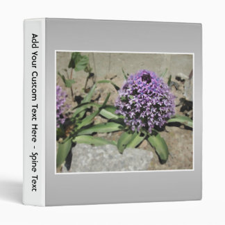 Scilla. Purple flower in a garden. On Gray. 3 Ring Binder