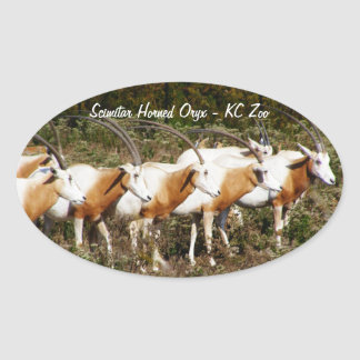 Scimitar Horned Oryxes stickers