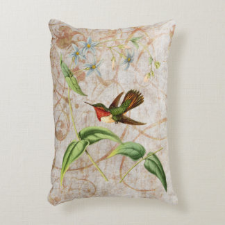 Scintillant Hummingbird Accent Pillow
