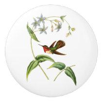 Scintillant Hummingbird Ceramic Knob