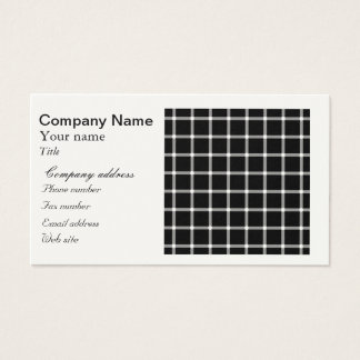Scintillating black & white grid optical illusion business card