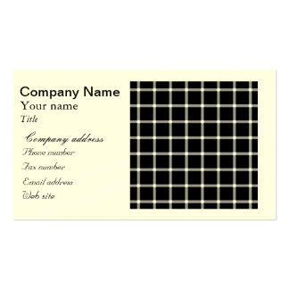 Scintillating black & white grid optical illusion business card template