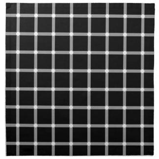Scintillating black & white grid optical illusion cloth napkin