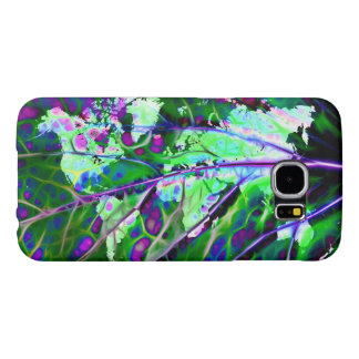 Scintillating Leaf World Map Samsung Galaxy S6 Case