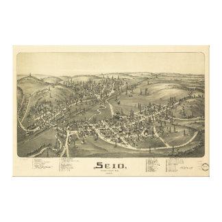 Scio Harrison County Ohio in 1899 Canvas Print