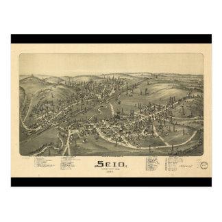 Scio Harrison County Ohio in 1899 Postcard
