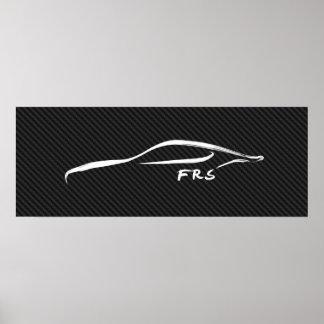 Scion FR-S Brushstroke on faux carbon fiber Poster