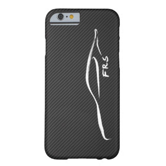 Scion FR-S white brushstroke on Faux CarboN Fiber Barely There iPhone 6 Case