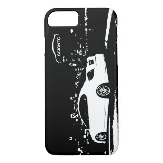 Scion TC side view - black and white art iPhone 7 Case
