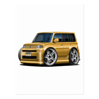 Scion XB Gold Car Postcard