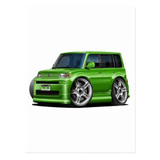 Scion XB Green Car Postcard
