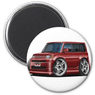 Scion XB Maroon Car 2 Inch Round Magnet