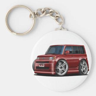 Scion XB Maroon Car Keychain