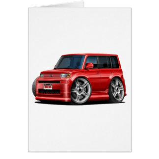Scion XB Red Car Card
