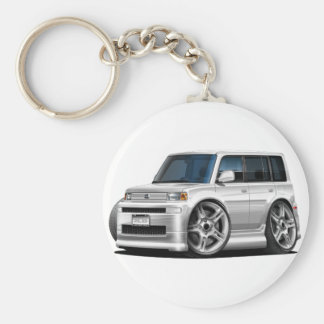 Scion XB White Car Keychain
