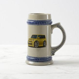 Scion XB Yellow Car 18 Oz Beer Stein