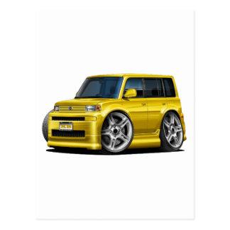 Scion XB Yellow Car Postcard