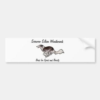 Scirocco Windhounds de seda Pegatina De Parachoque