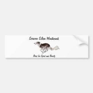 Scirocco Windhounds de seda Etiqueta De Parachoque