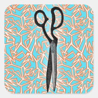 Scissor Art Square Sticker