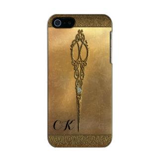 Scissor el monograma del Victorian Funda Para iPhone 5 Incipio Feather Shine