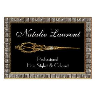 Scissor Elegant IV Hairstylist Royale Large Business Card