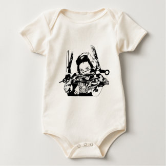 scissor hands baby bodysuit