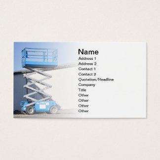 scissor lift or platform business card