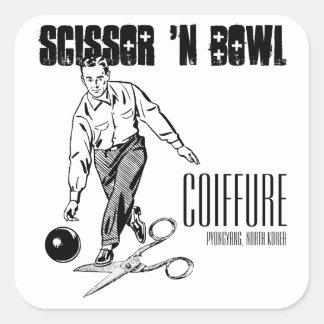 Scissor 'N Bowl Coiffure, NoKo Square Sticker