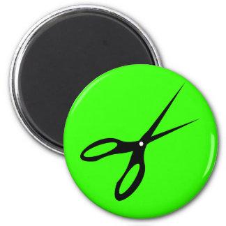 Scissor Scissors Shears - Decision Maker 2 Inch Round Magnet