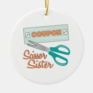 Scissor Sister Ceramic Ornament