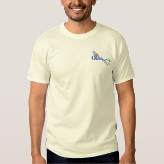 Scissor-tailed Flycatcher Embroidered T-Shirt