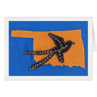 Scissor-tailed Flycatcher on a Gold Oklahoma Card