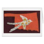 Scissor-tailed Flycatcher on a Orange Oklahoma Greeting Card
