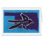 Scissor-tailed Flycatcher on a Purple Oklahoma Cards