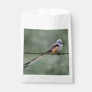 Scissor-tailed Flycatcher perched on barbed wire Favor Bag
