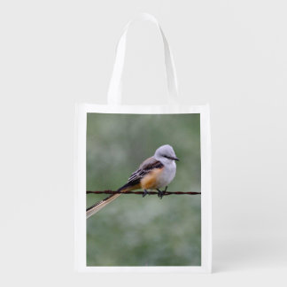 Scissor-tailed Flycatcher perched on barbed wire Market Totes