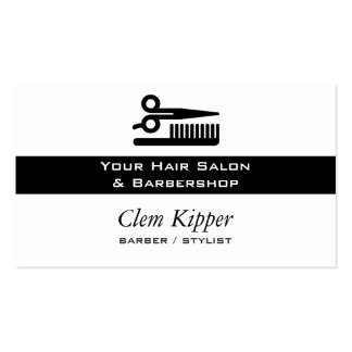 Scissors and Comb Hair Biz Double-Sided Standard Business Cards (Pack Of 100)