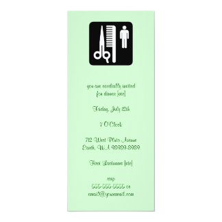 Scissors and Comb Hair Biz 4x9.25 Paper Invitation Card