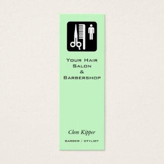 Scissors and Comb Hair Biz Mini Business Card