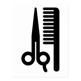Scissors and Comb Post Cards