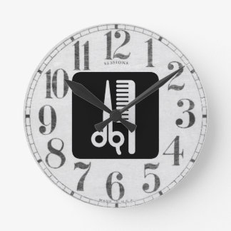 Scissors and Comb Round Clock