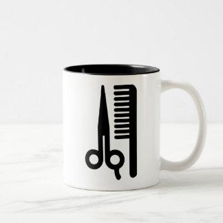 Scissors and Comb Two-Tone Coffee Mug