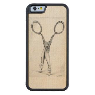 Scissors ballerina dancing surreal pencil art carved® maple iPhone 6 bumper case