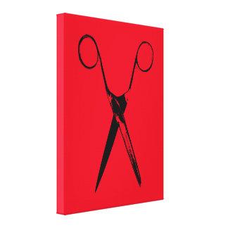 Scissors - black canvas print