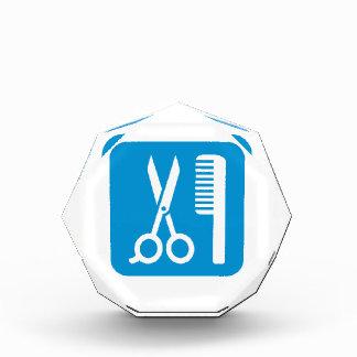 Scissors comb icon award