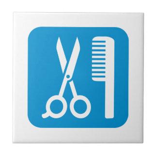 Scissors comb icon small square tile