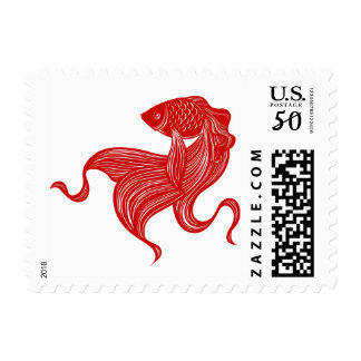 Scissors-cut Goldfish Postage