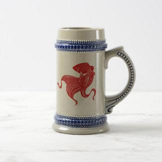 Scissors-cut Goldfish Stein Coffee Mug
