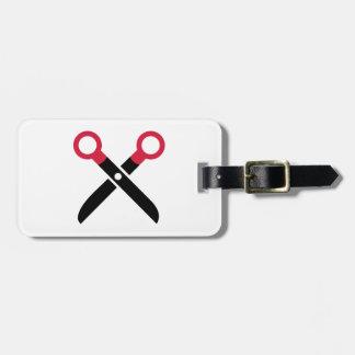 Scissors el icono etiquetas de equipaje